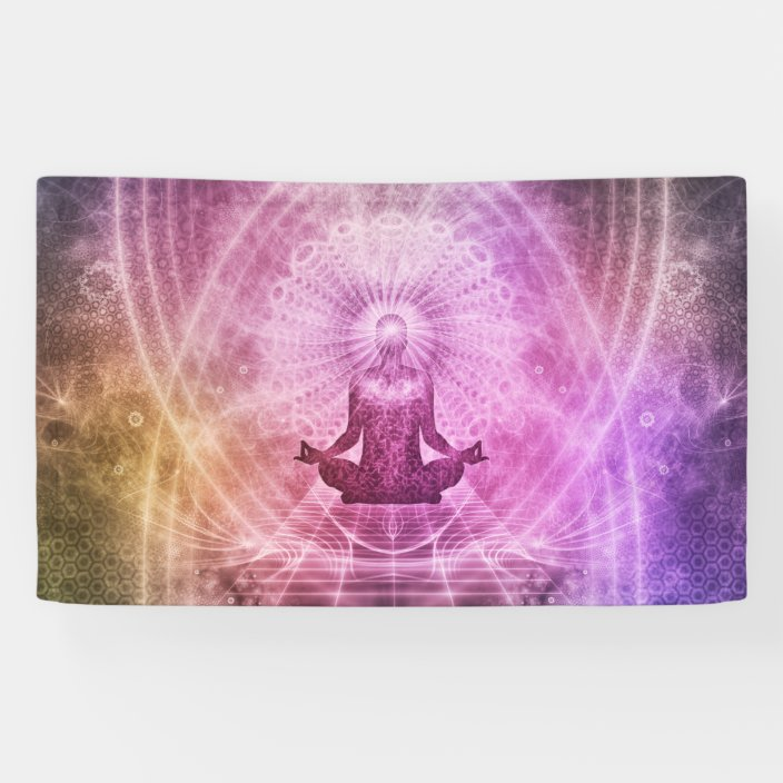 Spiritual Yoga Meditation Zen Colorful Banner Zazzle Com