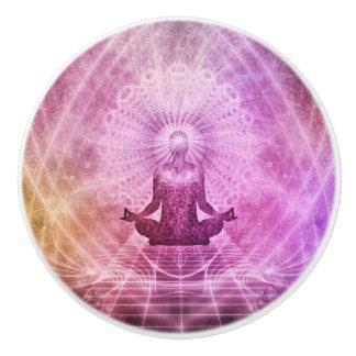 Spiritual Yoga Meditation Zen Colorful Ceramic Knob