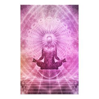 Spiritual Yoga Meditation Zen Colorful Stationery