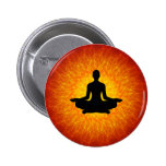 Spiritual Yoga On Mandala Button