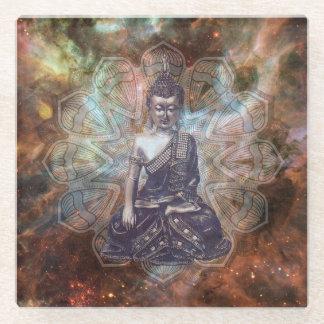 Spiritual Zen Enlightenment Buddha Glass Coaster