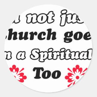 Spiritualist designs classic round sticker