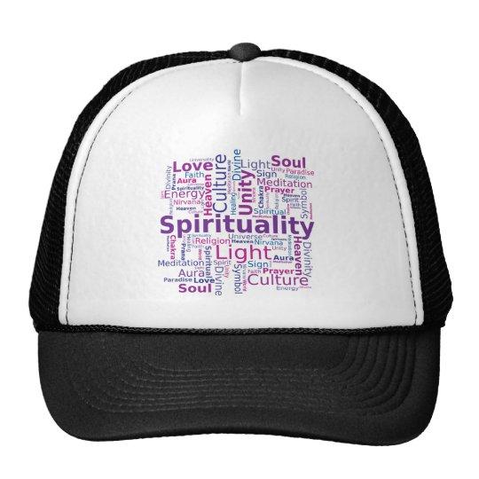 Spirituality Word Cloud - Pink Trucker Hat