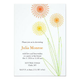 Spiro Flowers Bridal Shower 2 Card