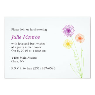 Spiro Flowers Bridal Shower Card
