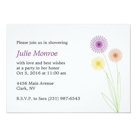 Spiro Flowers Bridal Shower Card
