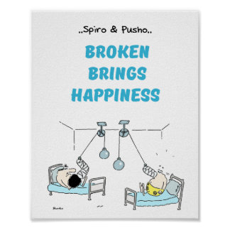 Spiro & Pusho Broken Quotes Poster 8x10