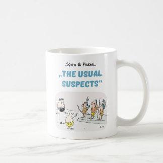 Spiro & Pusho Crime Quotes Cartoons Mug