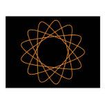 Spirograph anaranjado postales