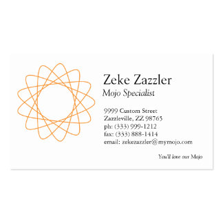 Spirograph anaranjado plantillas de tarjeta de negocio