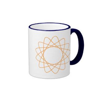 Spirograph anaranjado tazas de café