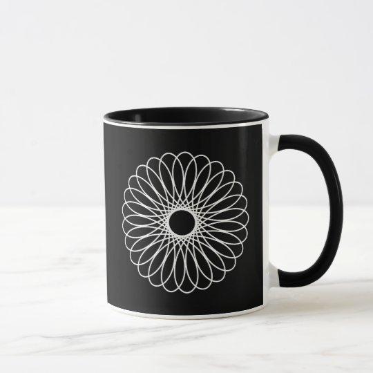 Spirograph blanco taza