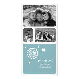 Spirograph Christmas Photo Card