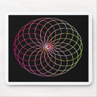 Spirograph del arco iris alfombrilla de ratones