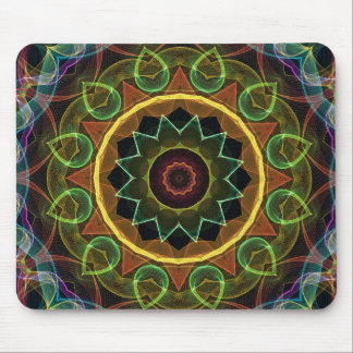 spirograph egg shaped leaves mouse pad
