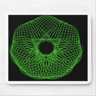 Spirograph futurista alfombrillas de ratón