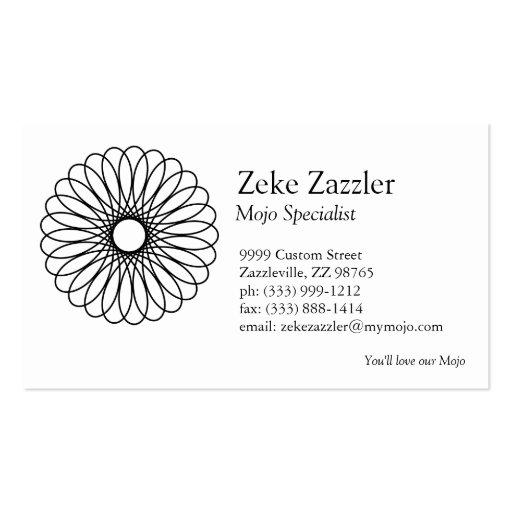 Spirograph negro plantillas de tarjetas personales