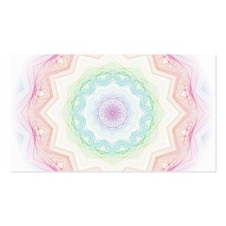 Spirograph suave del arco iris tarjeta de visita