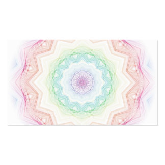 Spirograph suave del arco iris tarjetas de visita