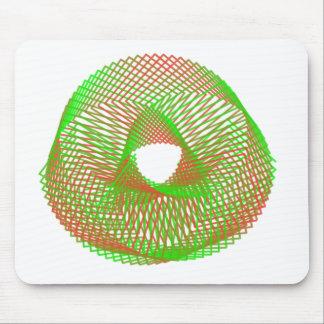 Spirograph verde y anaranjado alfombrillas de raton