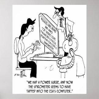 Spirometer Cartoon 7314 Poster