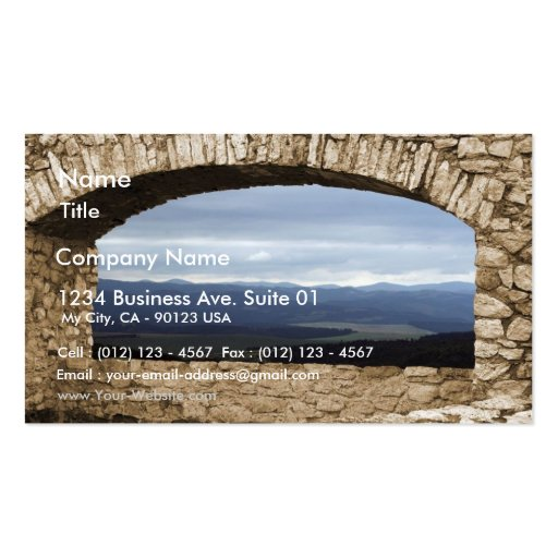 Spis Castle Largest Castle Of Central Europe View Business Card Templates