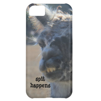 spit happens; funny llama iPhone Case iPhone 5C Covers