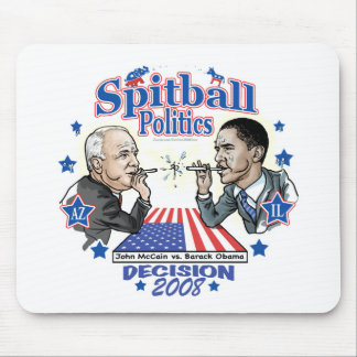 Spitball Politics 2008 Mouse Pad