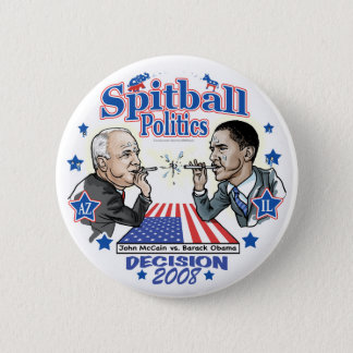 Spitball Politics 2008 Pinback Button