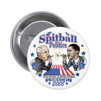 Spitball Politics 2008 Pinback Button