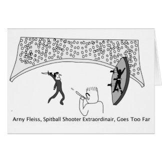 Spitball Shooter Card