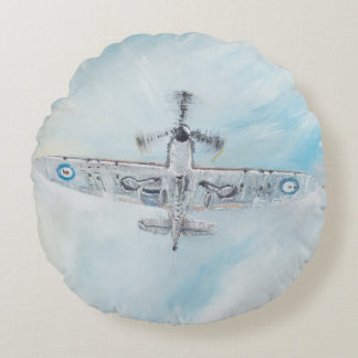 SPITFIRE. 'Ace Of Spades'. 2014. Round Pillow
