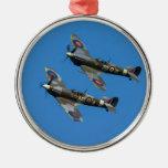 Spitfire Adorno Navideño Redondo De Metal