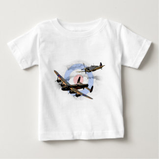Spitfire and Lancaster Baby T-Shirt