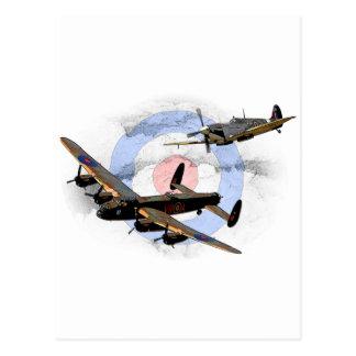 Spitfire and Lancaster Postcard