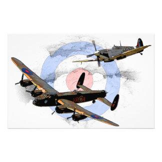 Spitfire and Lancaster Stationery
