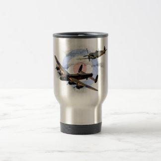 Spitfire and Lancaster Travel Mug
