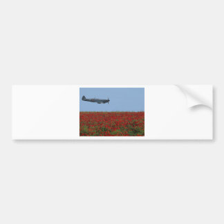 Spitfire and Poppies Bumper Sticker