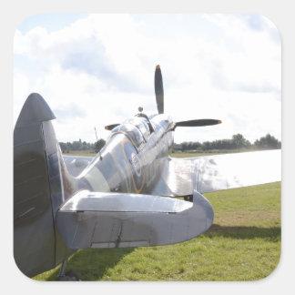 Spitfire bajo de MKIX Pegatina Cuadrada