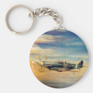 Spitfire Basic Round Button Keychain