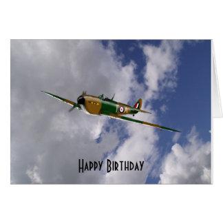 Spitfire Birthday Card