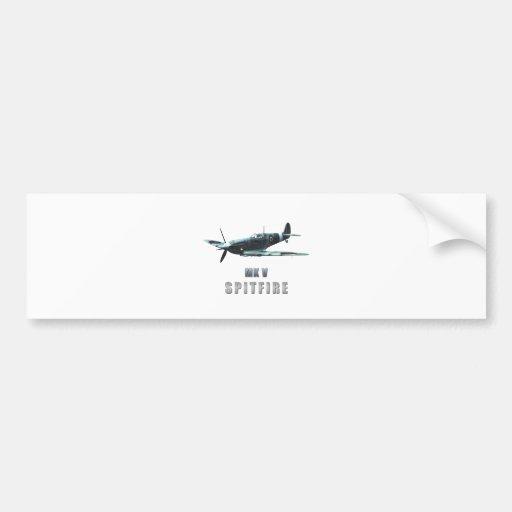 Spitfire Car Bumper Sticker