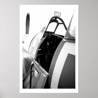 Spitfire Cockpit Posters
