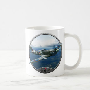 Travel Mug MG00009632 400ml /'Spitfire Aircraft/' Reusable Coffee