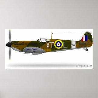 Spitfire de Supermarine - modificado para requisit Posters