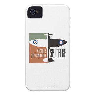 spitfire del supermarine de los vickers carcasa para iPhone 4 de Case-Mate