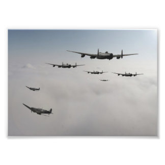 Spitfire Escort Photo Print