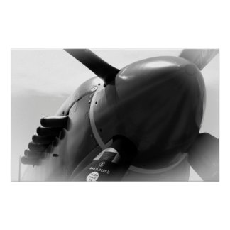 SPITFIRE FIGHTER AIRCRAFT of ENGLAND Poster