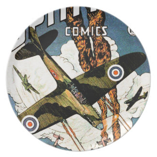Spitfire Fighter Aircraft - World War Two Party Plates