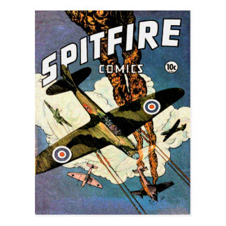 Spitfire Fighter Aircraft - World War Two Postcard